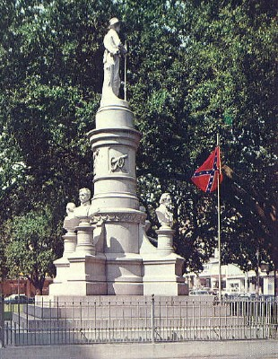 Photo of the Confederate Monument at the Caddo Parish Courthouse